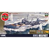 Airfix 1:600 Imperial War Museum HMS Belfast Scale Warship Gift Set including paint glue & brushes