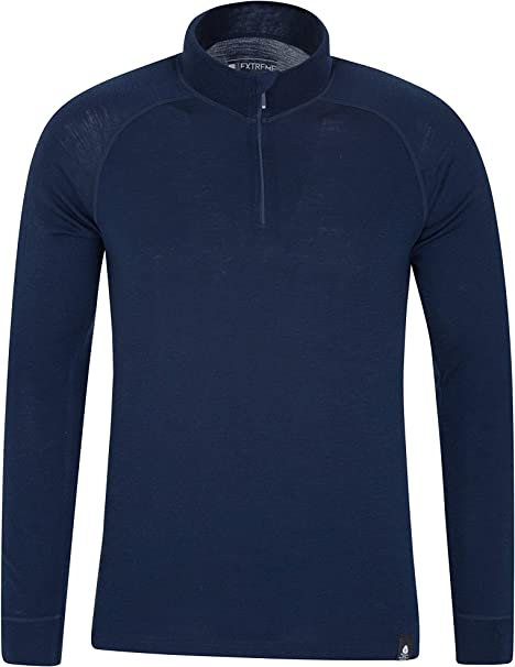 Mountain Warehouse Mens Breathable Tshirt with Merino Wool and Polyester Blend