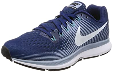 NIKE Women's Air Zoom Pegasus 34 Binary Blue/White/Glacier/Grey Running Shoe