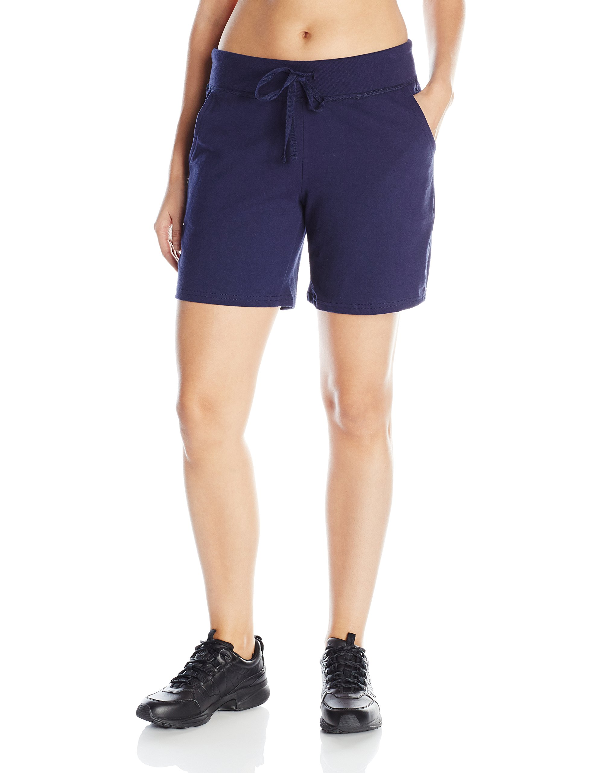 Hanes Women's Jersey Short, Navy, Large
