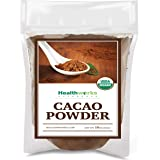 Healthworks Cacao Powder (16 Ounces / 1 Pound) | Cocoa Chocolate Substitute | Certified Organic | Sugar-Free, Keto, Vegan & N