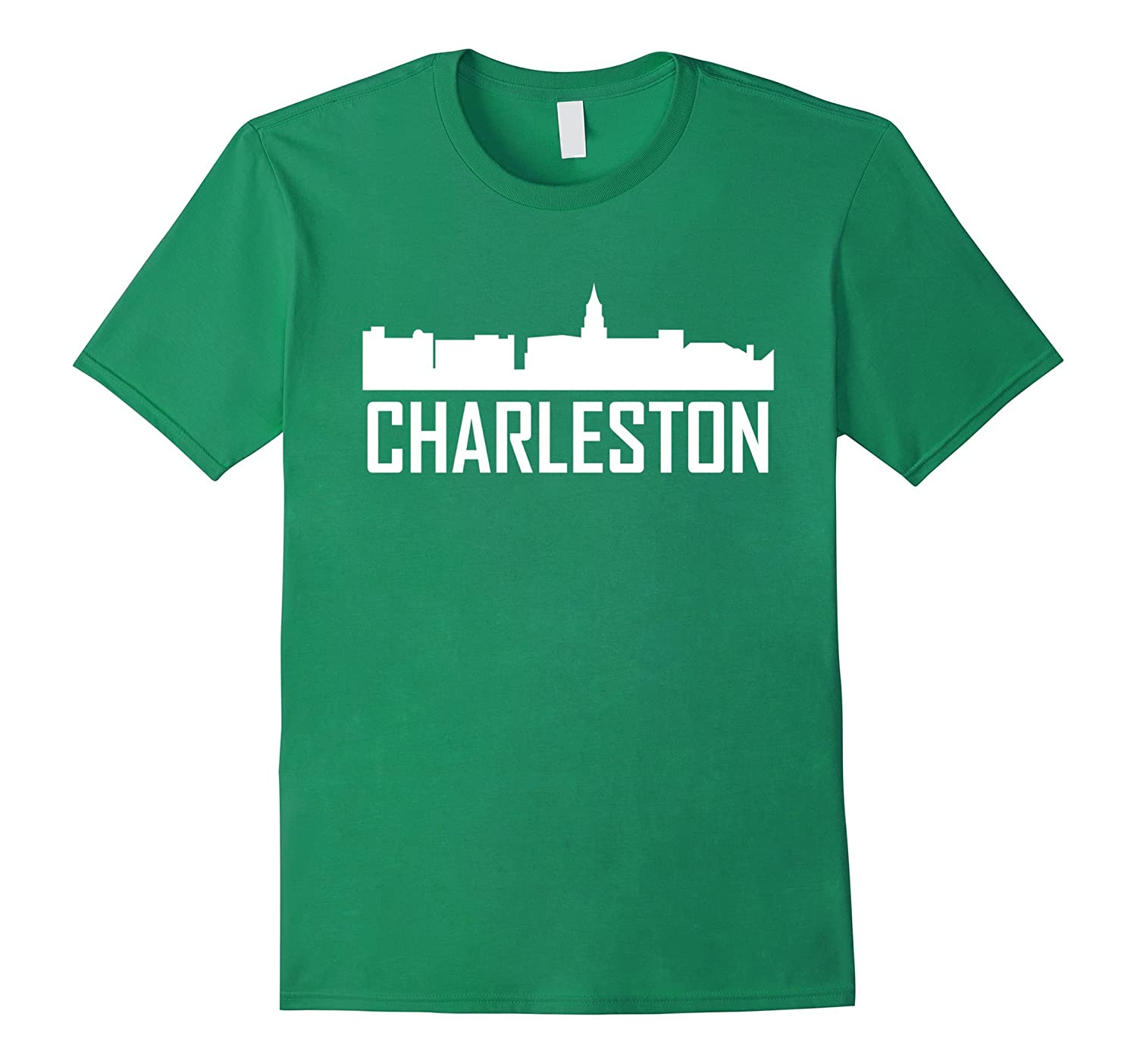 Charleston south carolina skyline silhouette t shirt for T shirt printing charleston sc