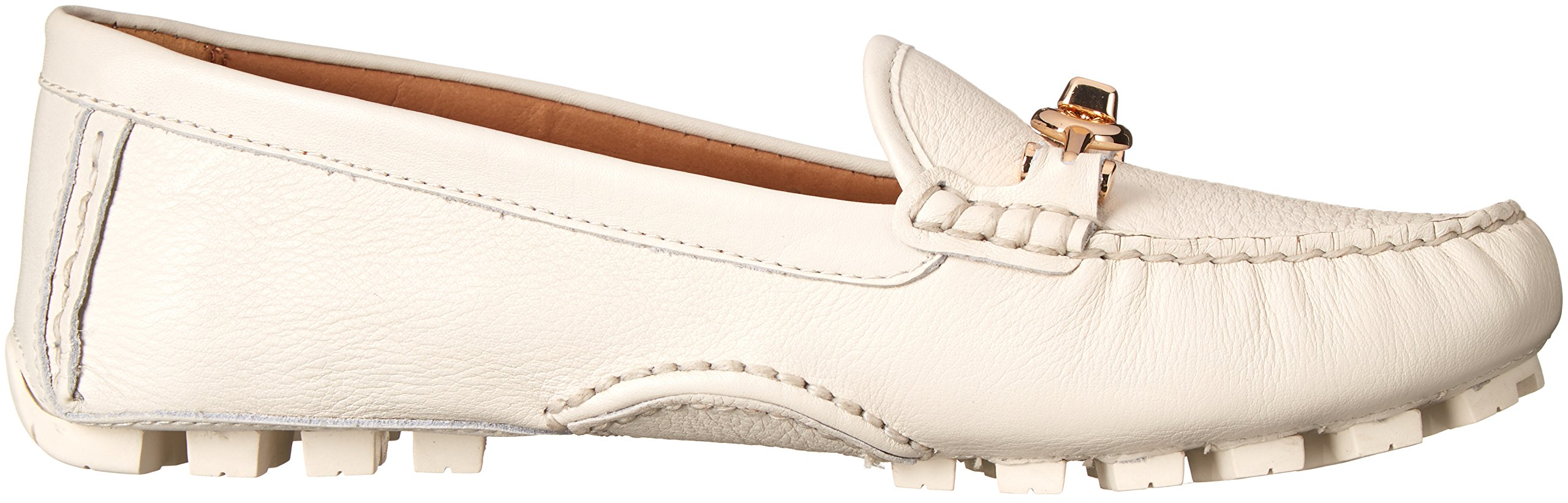 COACH Women's Arlene Chalk Pebble Grain Leather Flat by Coach (Image #7)