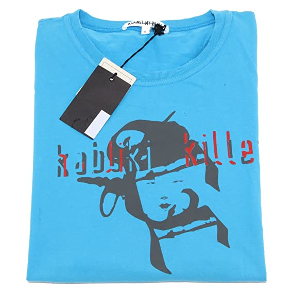 41429 maglia AGAINST MY KILLER polo uomo t-shirt men [XL]: Amazon ...