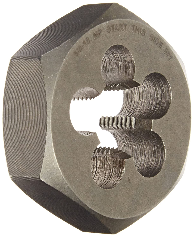 Drill America 2-1//2-8 Carbon Steel Hex NPT Pipe Rethreading Die DWT Series