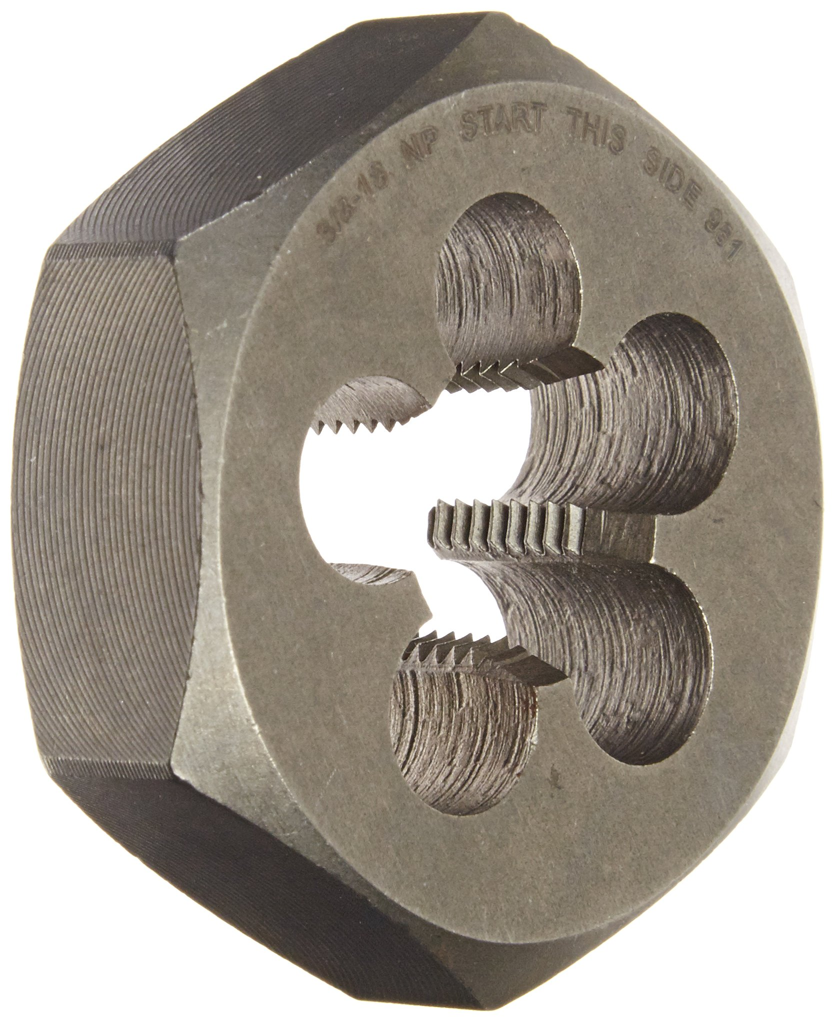 Drill America 3/8''-18 Carbon Steel Hex NPT Pipe Rethreading Die, DWT Series by Drill America