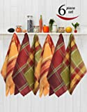 Avira Home Kitchen Towels With Hanging Loop, Pack Of 6 (Multicolor)