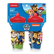 Playtex Sipsters Stage 3 Paw Patrol Spill-Proof, Leak-Proof, Break-ProofSpout Cup for Boys, 9 Ounce - Pack of 2
