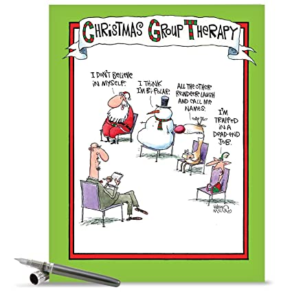 xl group therapy comedy merry christmas card large size 85 x