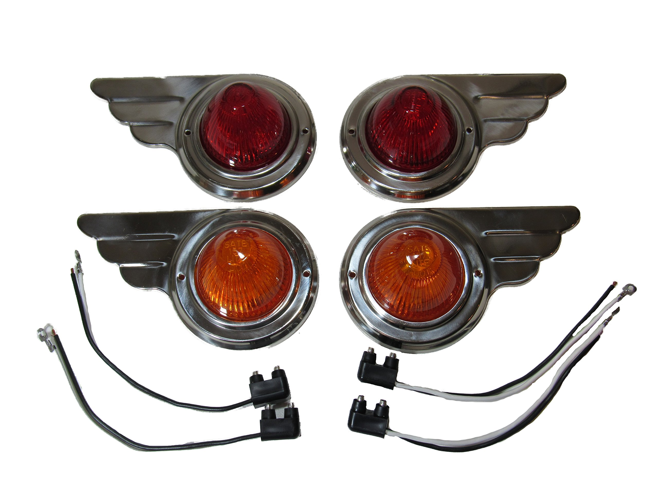 TCMA Wing Travel Trailer Side Marker Lights Deco Airstream Shasta Spartan Airfloat Camper RV by Kool Collectibles