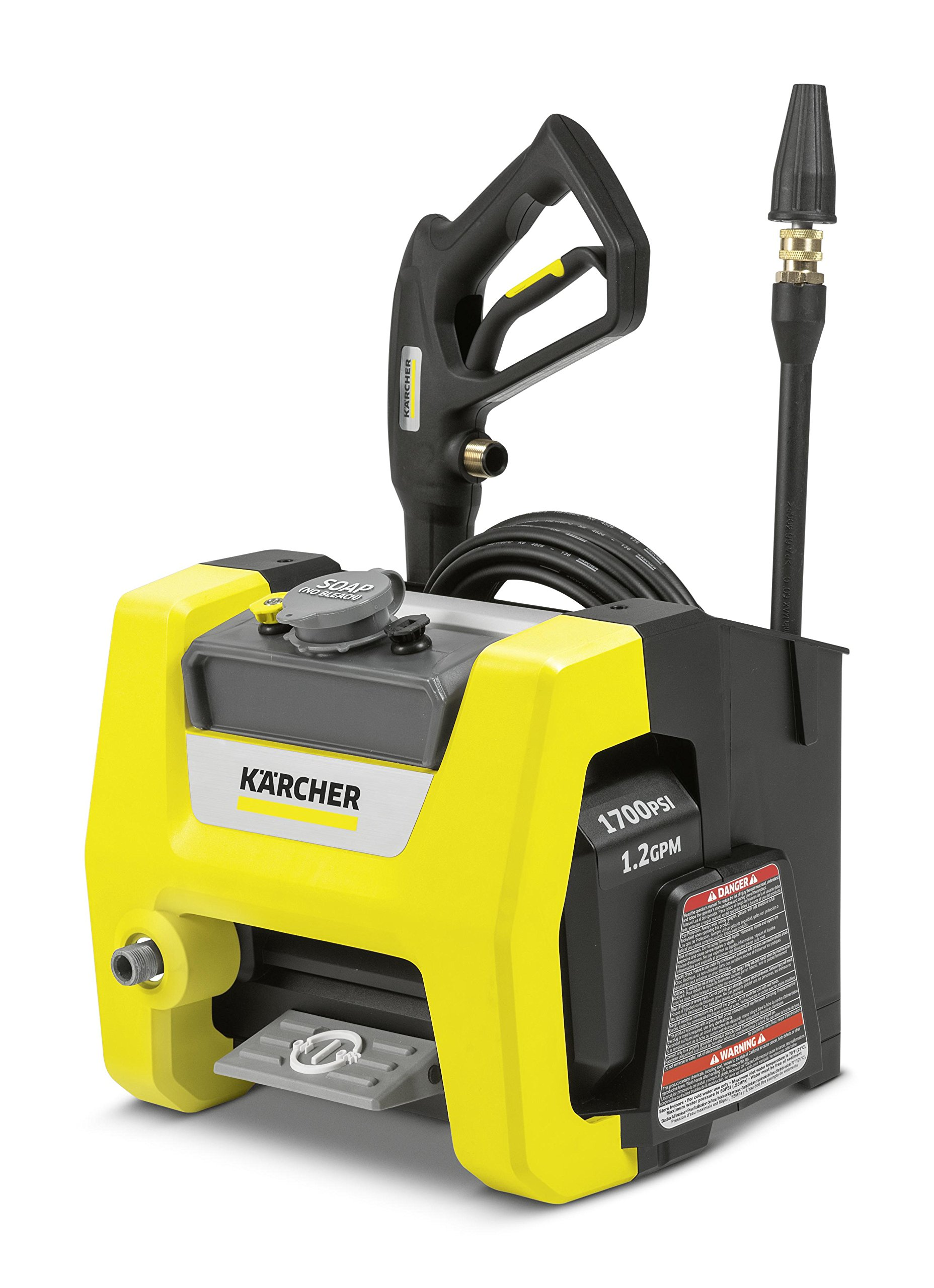Karcher K1700 Cube Electric Power Pressure Washer 1700 PSI TruPressure, 3-Year Warranty, Turbo Nozzle Included