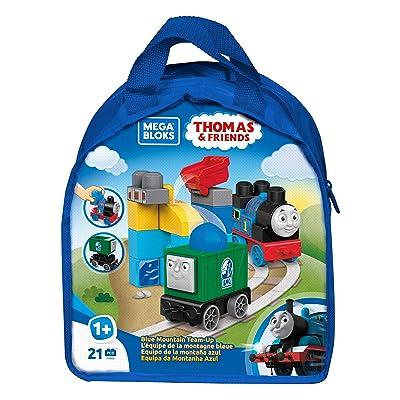 Mega Bloks Thomas & Friends Blue Mountain Team-Up Building Kit: Toys & Games