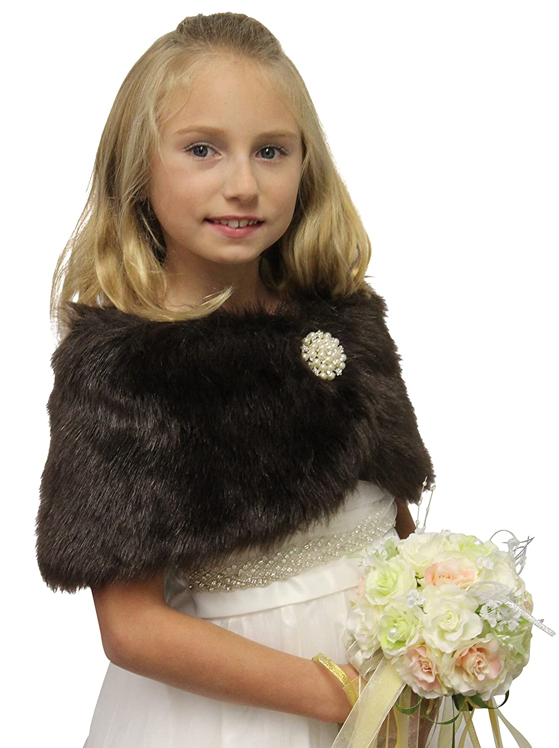 Faux Fur Wedding Wrap Flower Girl At Amazon Womens Clothing Store