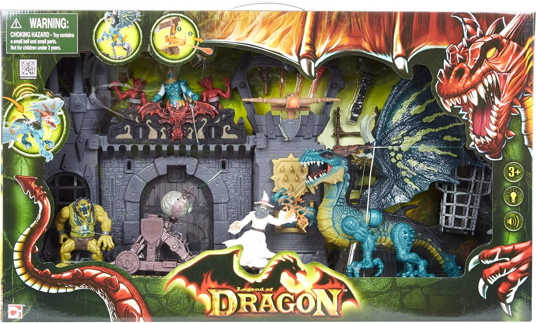 Legend of Dragon Dragon Doom Castle Attack Playset: Amazon.es ...