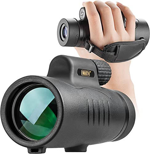 Monocular Telescope High Power 8×42 Monoculars Scope Compact Portable Waterproof Fogproof Shockproof with Hand Strap for Adults Kids Bird Watching Hunting Camping Hiking Travling Wildlife Secenery