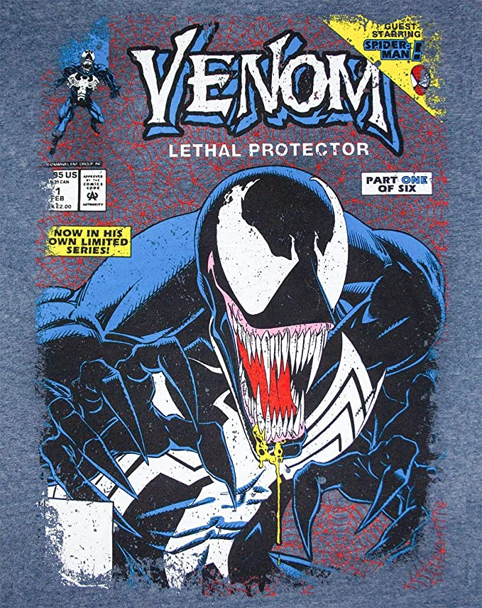 Marvel Venom Comic Cover Mens Burnout T-Shirt: Amazon.es: Ropa y accesorios