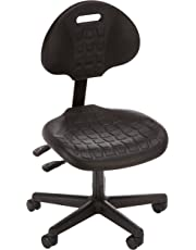 """Bevco 7001-3850S/5 Ergonomic Deluxe Chair with Casters, Tilt Back Adjustment, Reinforced Plastic Base, 16"""" to 21"""" Height Adjustment, Black"""