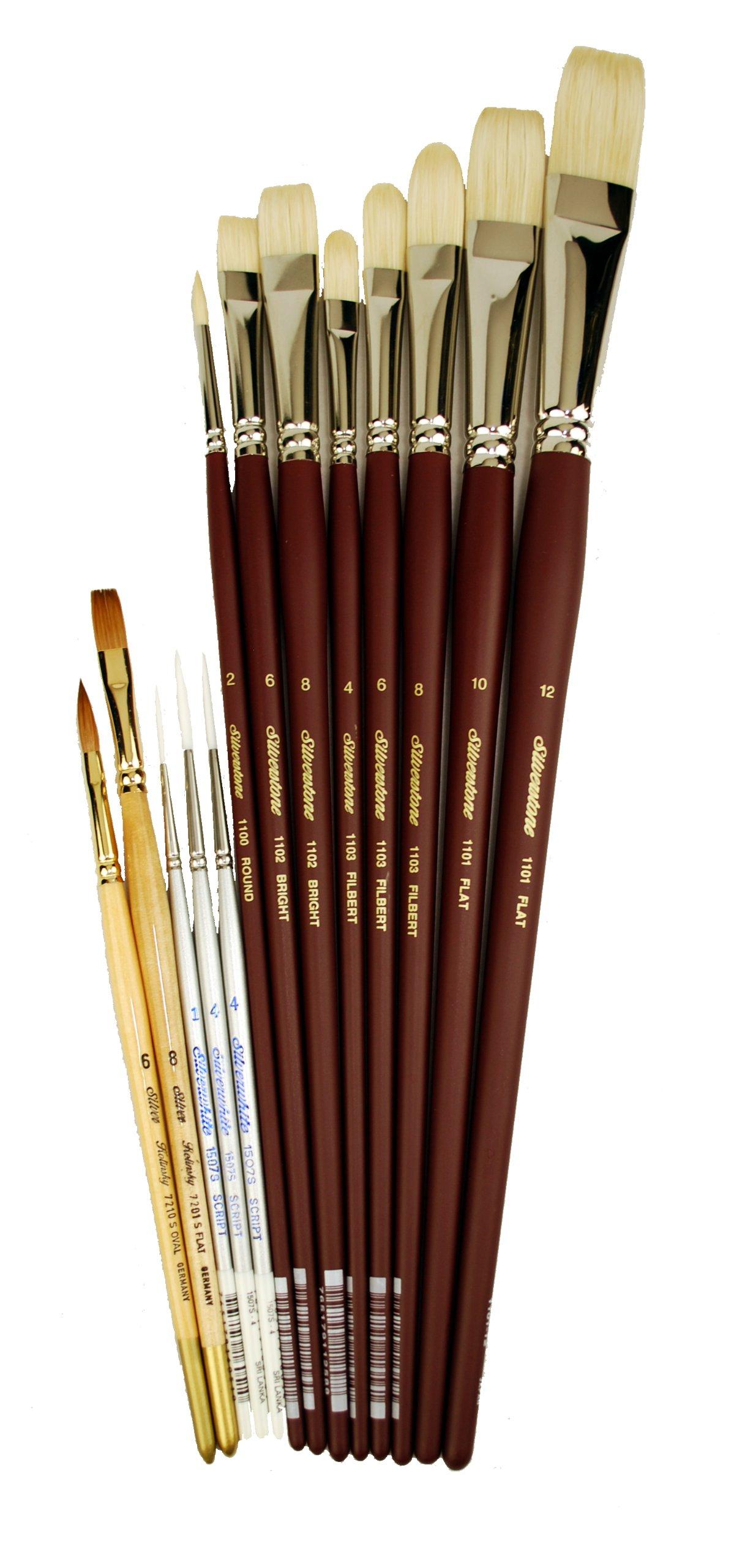 Silver Brush BT-613 Burton Silverman Figure and Drawing Basic Brush Set, 13 Per Pack