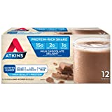 Atkins Ready to Drink Protein-Rich Shake, Milk Chocolate Delight, 12 Count