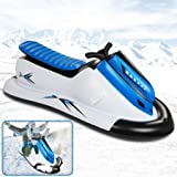 ROYI Inflatable Snowmobile Snow Sled, Kids and Adults Heavy-Duty Giant Snow Tube for Sledding with Reinforced Handles SnowRi