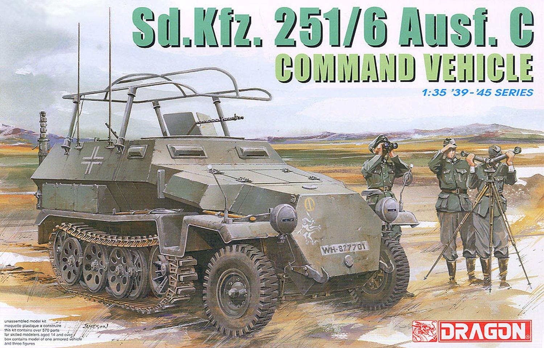 Platz DR6206 1 / 35 WW.II Germany army Sd.Kfz.251/6 Ausf.C armoured command vehicle