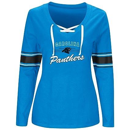 Amazon.com   NFL Carolina Panthers Women L S JERSEY V NECK TEE 447bf825d5