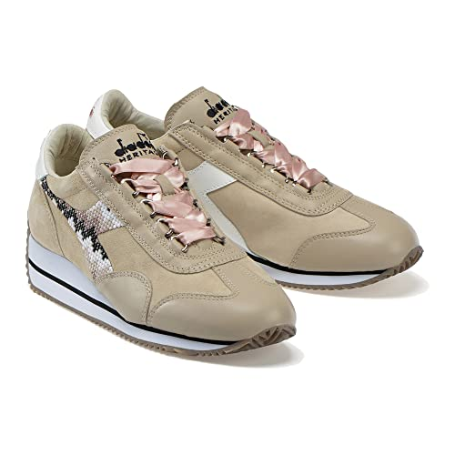 Diadora Heritage, Donna, Equipe W HH Pearls, Pelle, Sneakers, Marrone