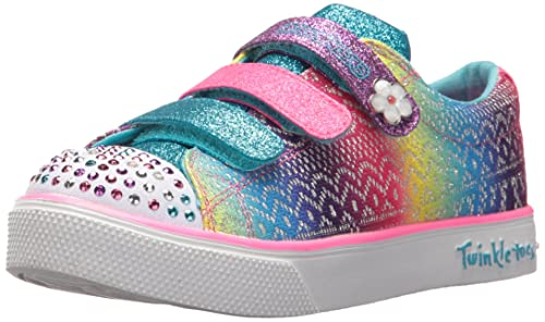 Skechers Twinkle Breeze 2.0-Stylin'Sta, Zapatillas para Niñas, Varios Colores (White/Multicolour), 28 EU
