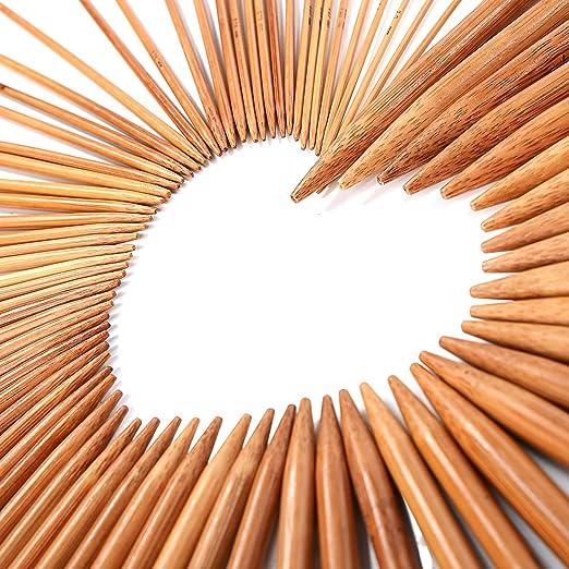 29 opinioni per LIHAO 15 Pacchetti di Bamboo Knitting Needles, Maglieria Crochet set con doppio