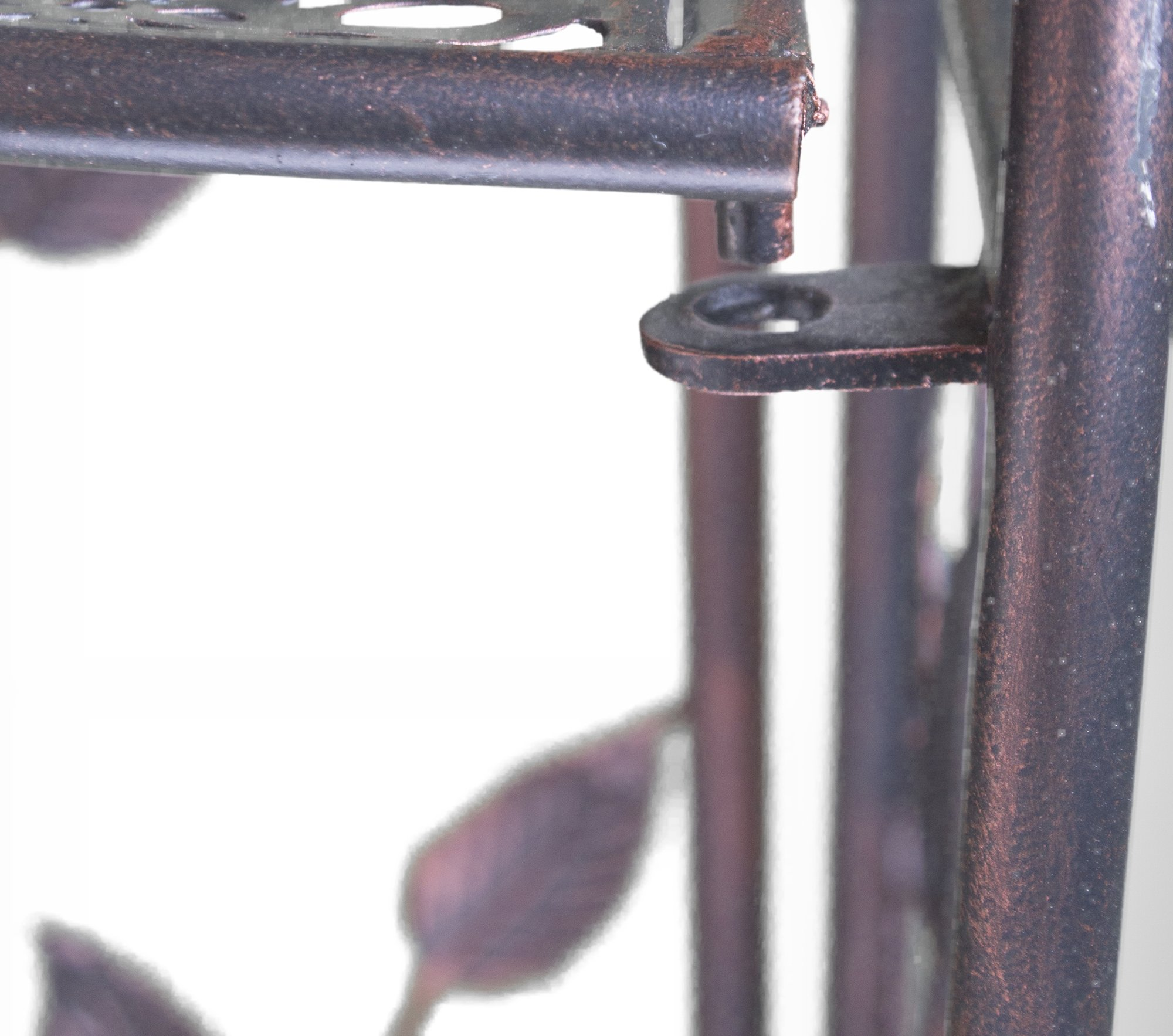 Heather Ann Creations W190795-BC Daisy Kitchen Corner Bakers Rack, Blackened Copper by Heather Ann Creations (Image #6)