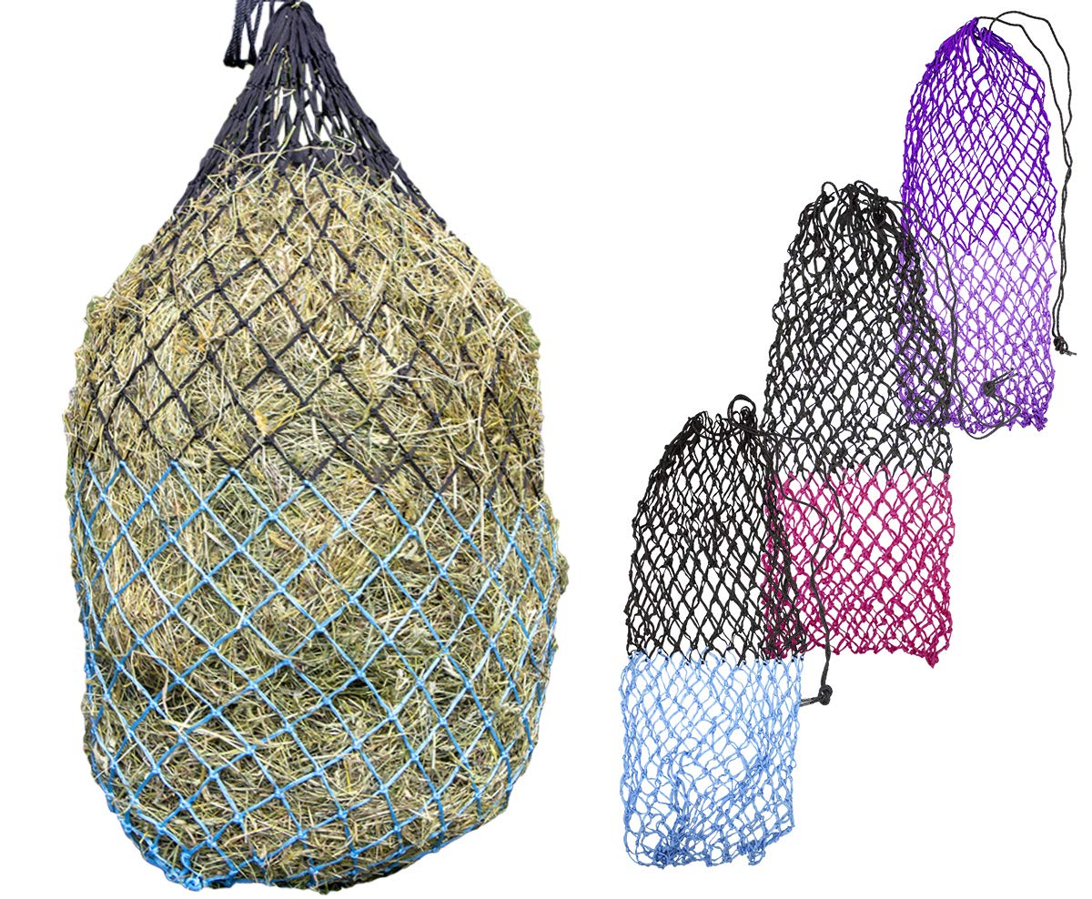 Derby Originals 56'' XL Cozi Net Slow Feed Soft Mesh Poly Rope Hanging Hay Net with 2x2'' Holes by Derby Originals