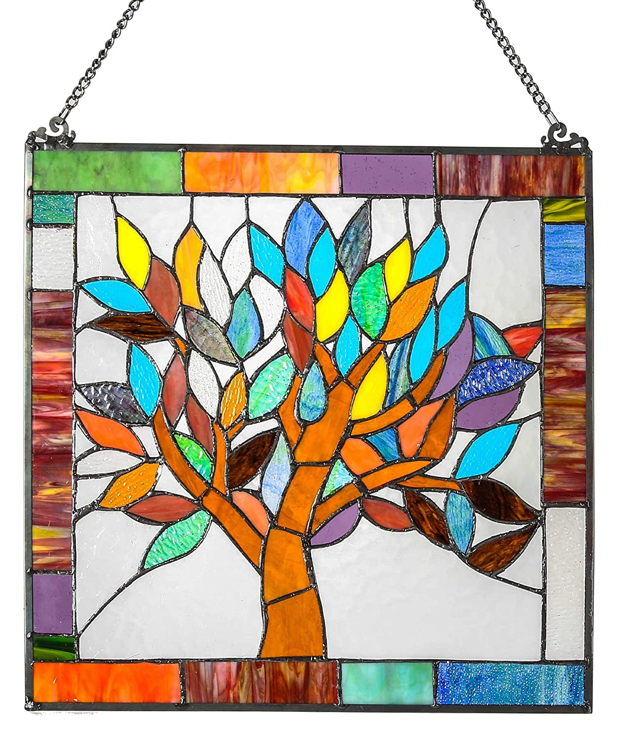 River of Goods Tiffany Style Stained Glass Mystical World Tree