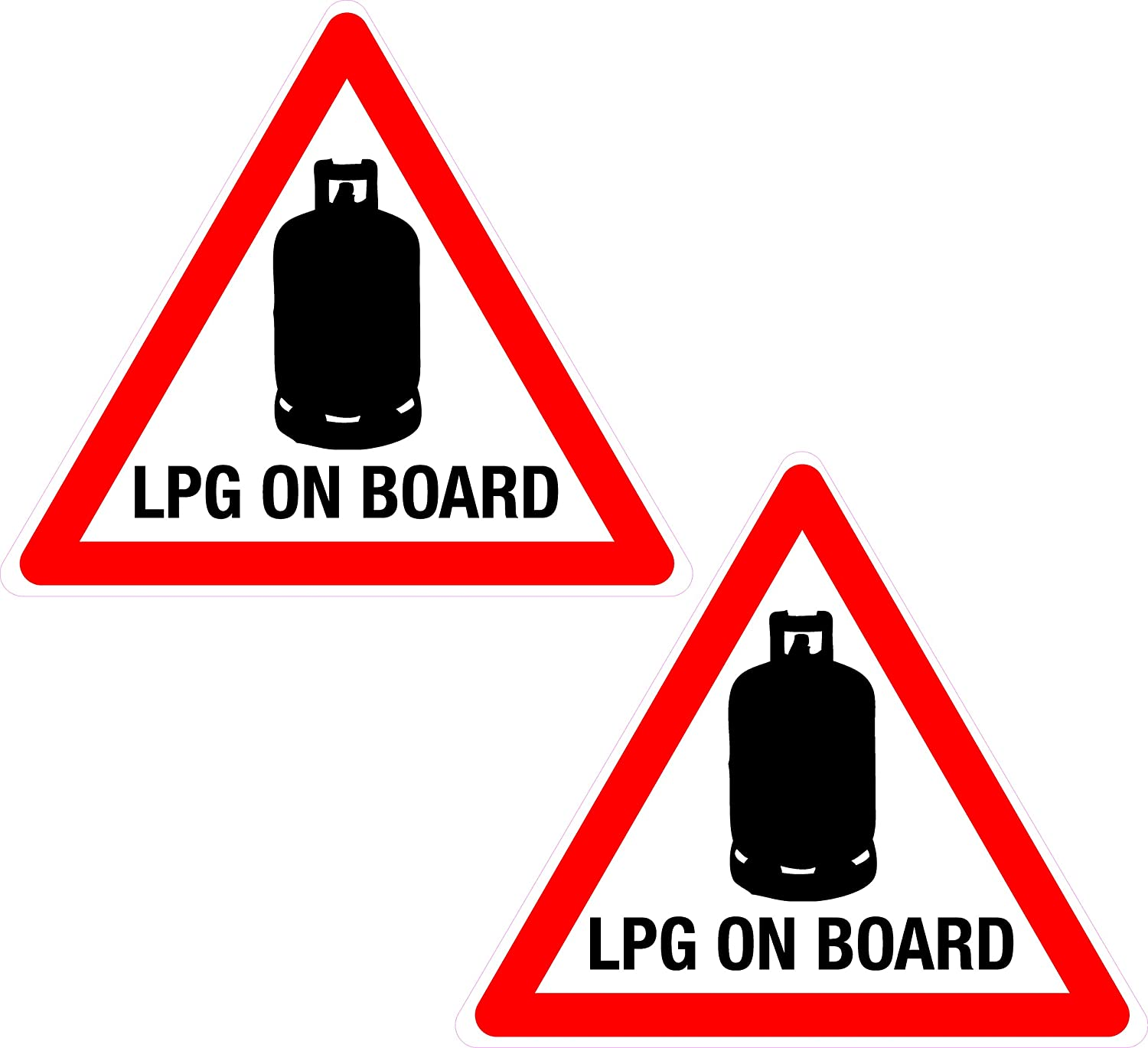 1-6 LPG On Board-Health and Safety Adhesive Vinyl Sticker-Gas Warning Red Sign