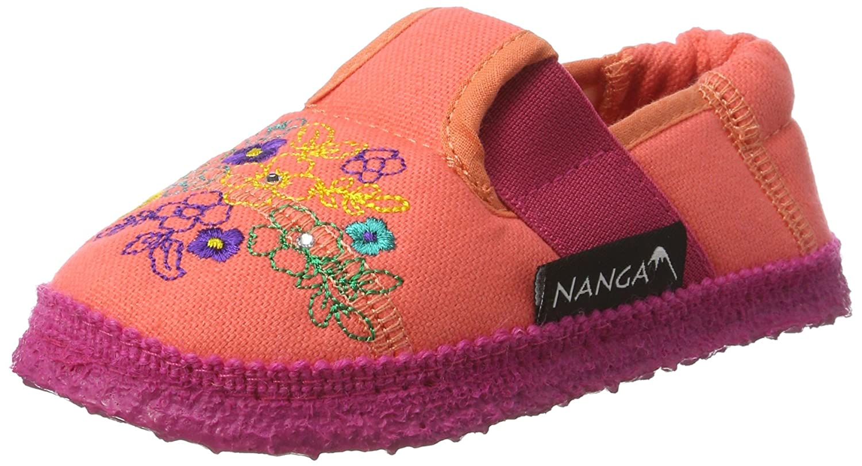 Nanga Mädchen Blumenwiese Hausschuhe, Pink (Fuchsia), 33 EU