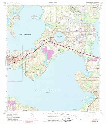 Map Of East Florida.Amazon Com Florida Maps 1965 Leesburg East Fl Usgs Historical
