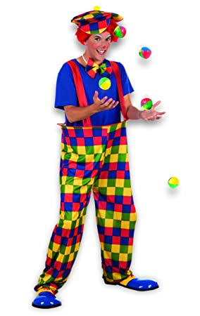 CIRCUS CLOWN FUNNY ADULT MENS CARNIVAL FANCY DRESS COSTUME