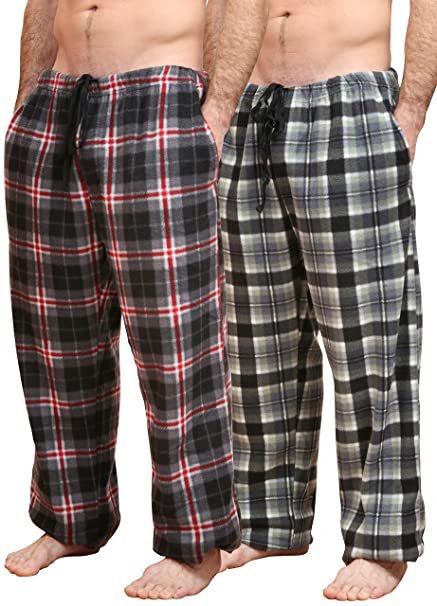 405c2e300935f Bronze Eagle Ultra Soft Fleece Men's Pajama Pants with Pockets Two Pack at Amazon  Men's Clothing store: