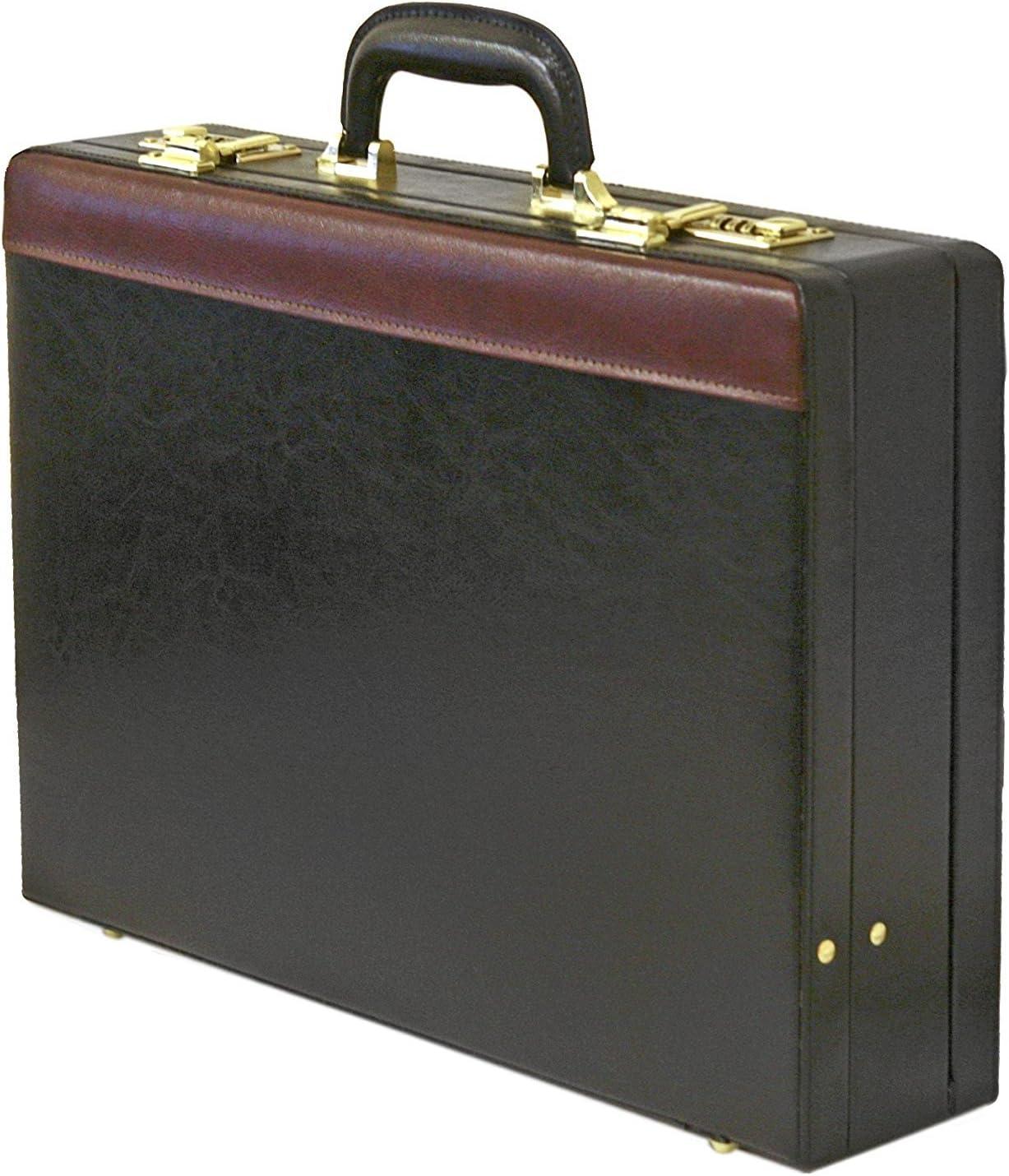 PU Imitation Cuir Porte-Documents Style Business Extensible Noir