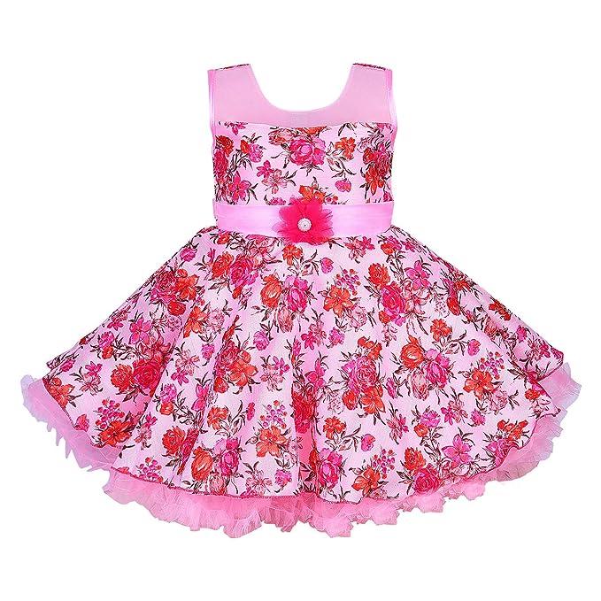91f06f0959e4 Wish Karo Baby Girls Party Wear Frock Dress - Net - (fe2631)  Amazon ...