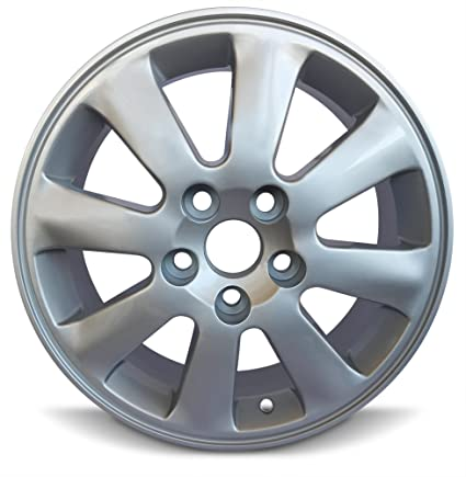 Road Ready Car Wheel For 2007-2011 Toyota Camry 16 Inch 5 Lug Gray Steel  Rim Fits R16 Tire - Exact OEM Replacement - Full-Size Spare