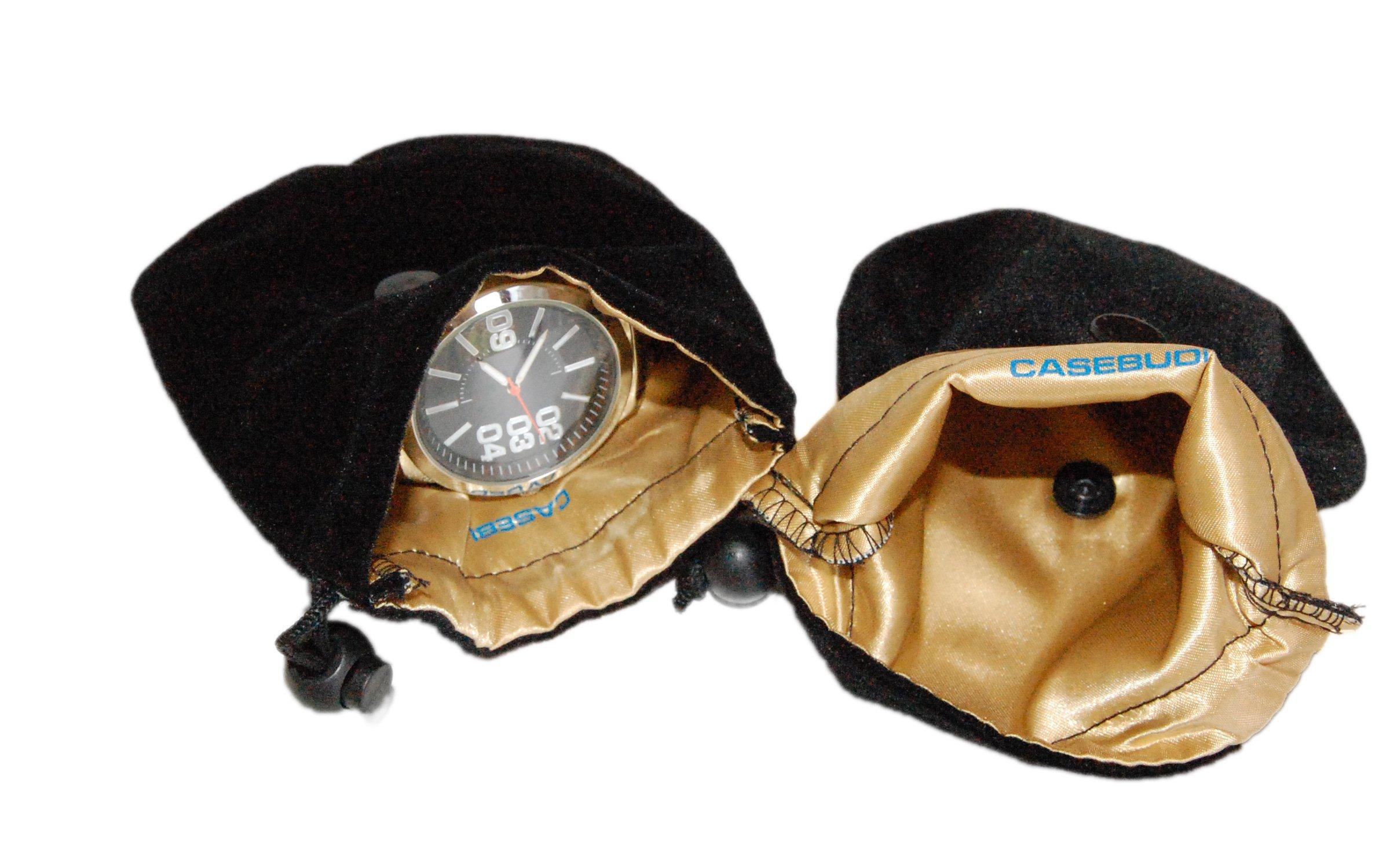 CASEBUDi Soft Watch Travel Case   2 Pack   Black