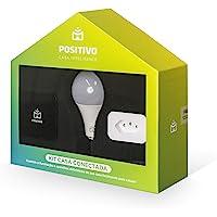 Kit Casa Conectada Positivo Casa Inteligente (1 Smart Controle Universal, 1 Smart Plug Wi-Fi, 1x Smart Lâmpada Wi-Fi…