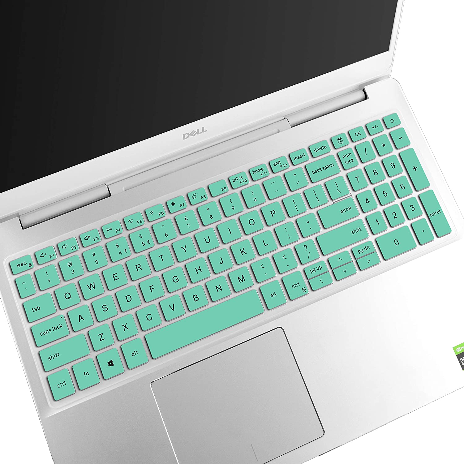 Keyboard Cover Compatible with Dell Inspiron 15 7000 7590 7591 7500 75017506 i7506 7706 i7706, Inspiron 15 5501 5508 5584 5590 5593 5598, Vostro 15 7590 7591 5590 7500 Laptop US Layout - Mint
