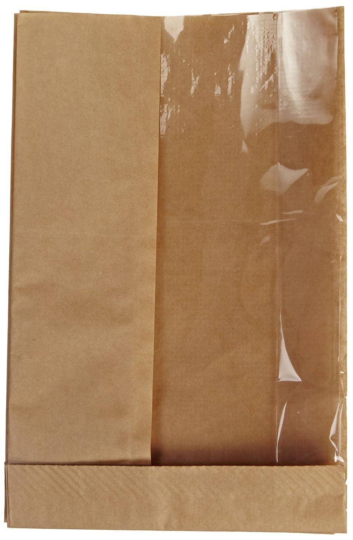 Bagcraft 300094 Dubl View Sandwich Bags 9 1//2 x 5 3//4 x 2 3//4 Natural Brown 500//Carton