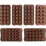 JPSOR 6 PCS Candy Molds, Chocolate Molds, Silicone Molds, Ice Molds,Soap Molds, Silicone Baking Molds, Heart, Flower, Star, Square & Animal-Shaped Gift Set