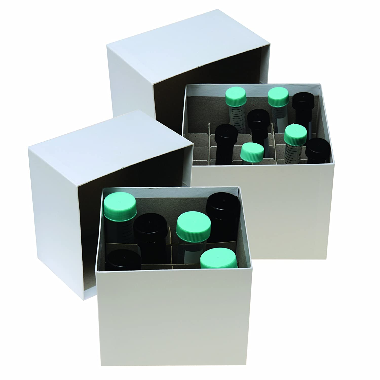 4-7//8 Length x 4-7//8 Width x 1-5//16 Height Pack of 12 Argos R3023 Cryo//Freezer Box 25 Place Cell Divider