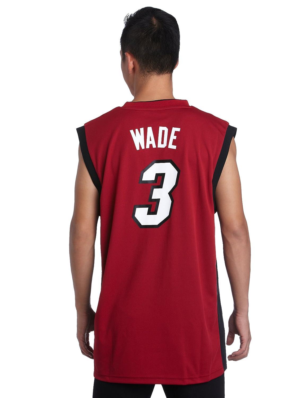 Adidas Miami Heat Dwyane Wade revolución 30 réplica Alternate Jersey - 7818A3B6AEB549, Rojo: Amazon.es: Deportes y aire libre