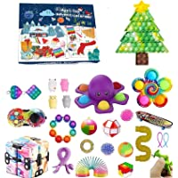 Advent Calendar Toy,Fidget Pack,Fidget Toy Box,24DAYS Christmas Countdown Calendar Pop Bubble Sensory Toys,Stress Relief…