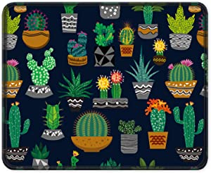 ITNRSIIET Mouse Pad, Cute Cactus Design Mousepad. Customized Gaming Mousepads for Laptop and Computer. Cute Design Desk Accessories. Non-Slip, Stitched Edges, Waterproof