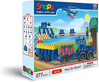 product image for Snapo Hop On Board Primary Color 275+ Boxed Interlocking Building Block Set